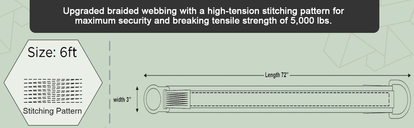 AFP Cross Arm Strap Premium Heavy-Duty Pass-Through Double Steel Ring OSHA/ANSI