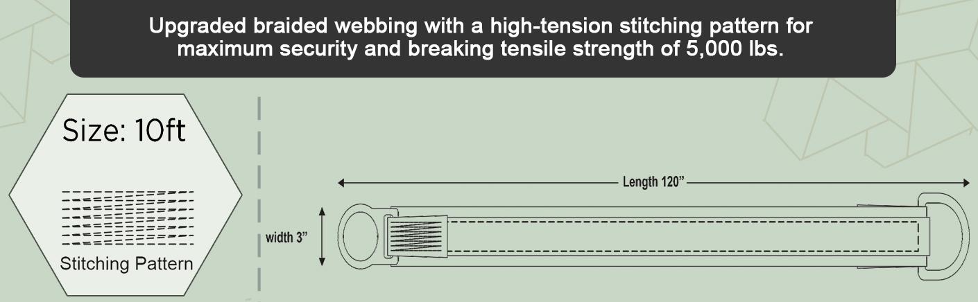 AFP 6 Cross Arm Strap Premium Heavy-Duty Pass-Through Double Steel Ring OSHA/ANSI