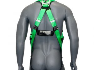 AFP Universal Full-Body Safety Harness with Dorsal D-Ring and Mating Buckle Legs High-Visibility Green (OSHA/ANSI Compliant) Quick One Safety