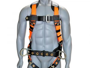 AFP Full-Body Safety Harness 3D Ring with Shoulder Padding, Padded Back Support Belt, and Tongue Buckles (OSHA/ANSI Compliant) Quick One Safety