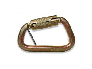 AFP Twist-Locking D-Steel High-Strength Carabiner w/ Pin, ANSI & OSHA Compliant Quick One Safety