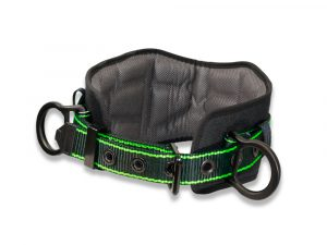 AFP Heavy-Duty 2 D-Ring Aluminum Hardware, Premium Thick 8'' Padded Back Support Waist Body Belt w/ Tongue Buckle & Hi-Viz Premium Stitching, Fall Protection Work Positioning Restraint (OSHA/ANSI PPE)