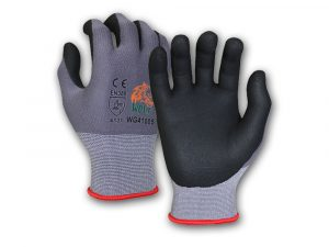 WOLF Cut Resistant Breathable Nitrile Foam Grip Palm Seamless Glove Quick One Safety