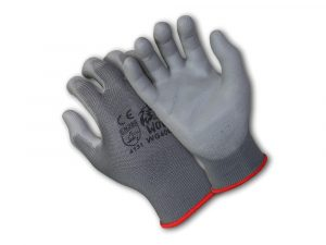 WOLF Ultra-Thin Breathable 13-gauge Grey Polyurethane Palm Coated Safety Glove bQuick One Safety